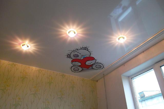 Натяжной потолок в детскую комнату на заказ. Купить в Нижнем Новгороде