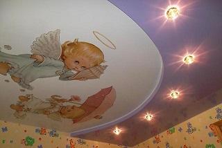 """Натяжной потолок в детскую комнату на заказ, стоимость монтажа\"""" width="""